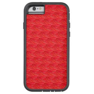 抽象的で赤い傘の幾何学的なパターン TOUGH XTREME iPhone 6 ケース