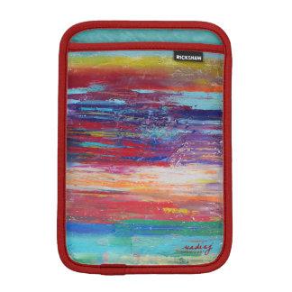 抽象的で赤いiPadの袖 iPad Miniスリーブ