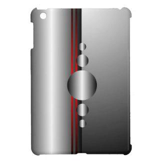 抽象的で赤く、銀製の金属の一見 iPad MINIケース