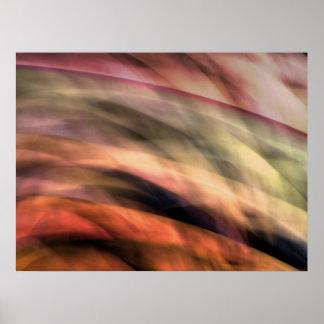 抽象的で超現実的な丘 ポスター
