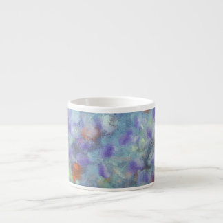 抽象的で青いエスプレッソのマグ エスプレッソカップ