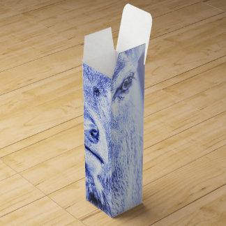 抽象的で青いシカのワイン用化粧箱 ワインギフトボックス