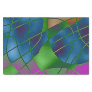 抽象的で青いティッシュペーパー 薄葉紙