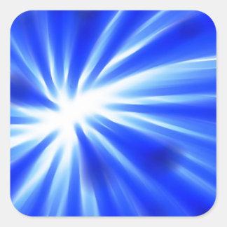 抽象的で青いデザイン スクエアシール