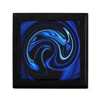 抽象的で青い孔雀 ギフトボックス