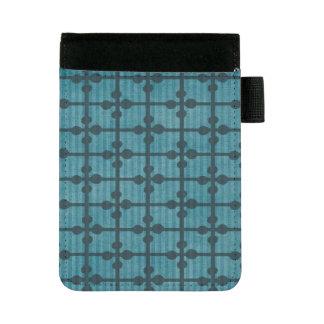 抽象的で青い格子デザインの背景 ミニパッドフォリオ