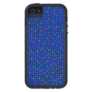 抽象的で青い正方形パターンiPhone 5/5sの箱 iPhone SE/5/5s ケース