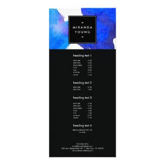 抽象的で青い水彩画の棚カード ラックカード