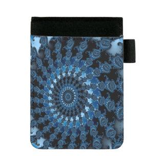 抽象的で青い氷パターン ミニパッドフォリオ