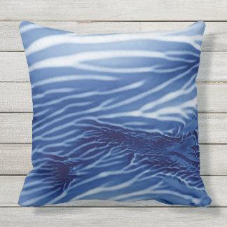 抽象的で青い海Monoprint アウトドアクッション