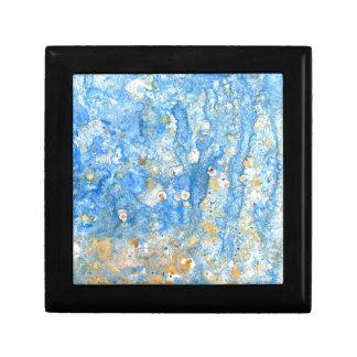抽象的で青い絵画 ギフトボックス