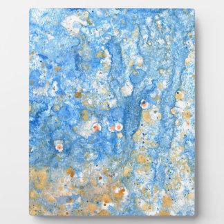 抽象的で青い絵画 フォトプラーク