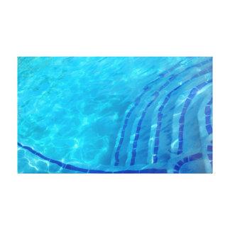 抽象的で青い背景 キャンバスプリント