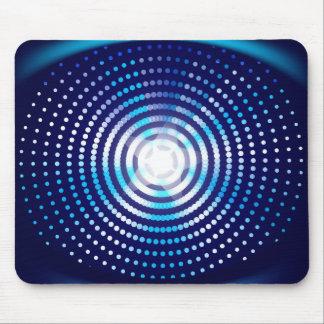 抽象的で青い背景 マウスパッド