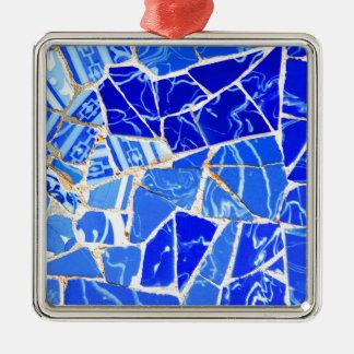 抽象的で青い背景 メタルオーナメント