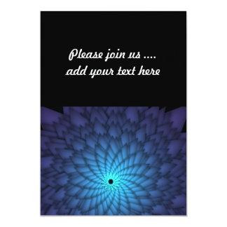 抽象的で青い花のフラクタルの芸術 カード