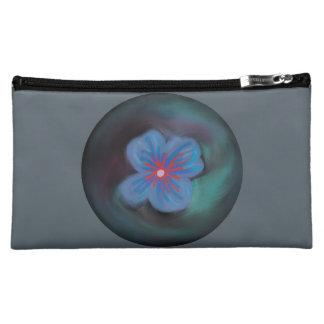 抽象的で青い花の化粧品のバッグ(媒体) コスメティックバッグ
