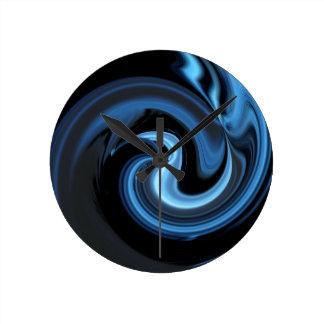 抽象的で青い鳥の*personalize* ラウンド壁時計