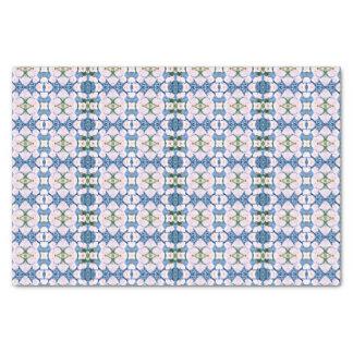 抽象的で青いHyacinth/デイジー 薄葉紙