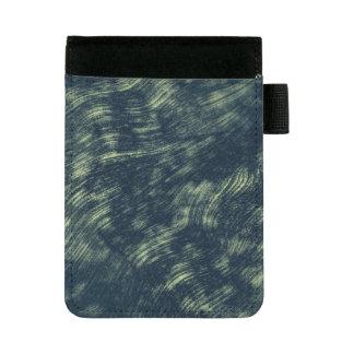 抽象的で青および白い質の背景 ミニパッドフォリオ