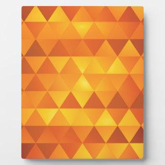 抽象的で黄色い三角形 フォトプラーク