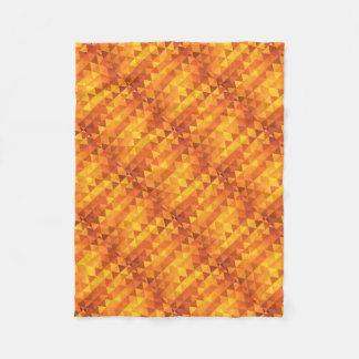 抽象的で黄色い三角形 フリースブランケット