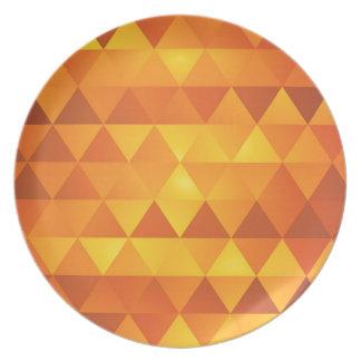 抽象的で黄色い三角形 プレート