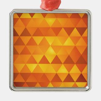 抽象的で黄色い三角形 メタルオーナメント