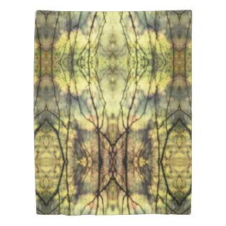 抽象的で黄色い木 掛け布団カバー