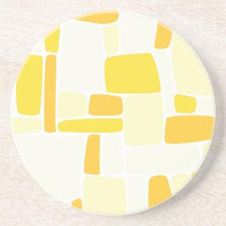 抽象的で黄色い正方形 コースター
