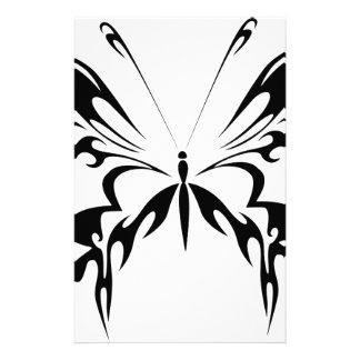 抽象的で黒い蝶 便箋