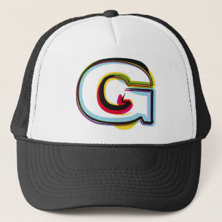 抽象的で、多彩な手紙G キャップ