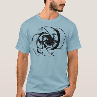 抽象的なねじれ Tシャツ