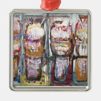 抽象的なアイスクリームのサンデー(食糧表現主義) メタルオーナメント