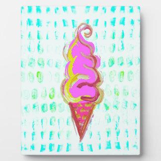 抽象的なアイスクリーム フォトプラーク