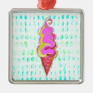 抽象的なアイスクリーム メタルオーナメント