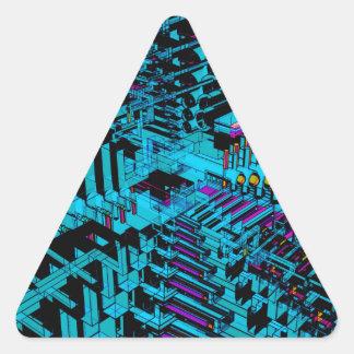 抽象的なアートワーク 三角形シール