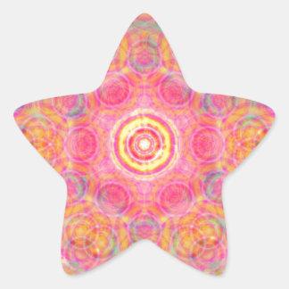 抽象的なアートワーク 星シール