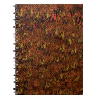 抽象的なインドの羽 ノートブック