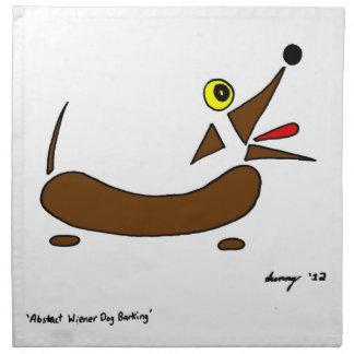 抽象的なウインナー犬のナプキン- 4のセット ナプキンクロス
