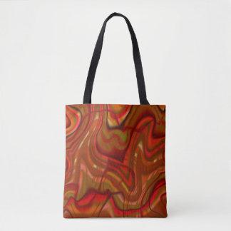 抽象的なオレンジ渦巻のデザイン トートバッグ