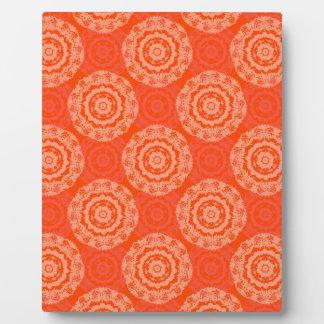 抽象的なオレンジ フォトプラーク