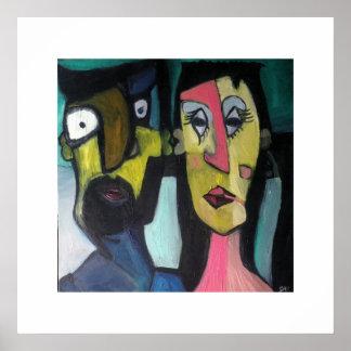 抽象的なカップル ポスター