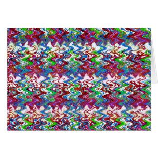 抽象的なカラフルのエンボスの踊りの波の芸術のギフト カード