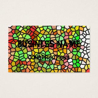 抽象的なカラフルのステンドグラス 名刺