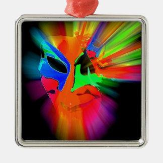 抽象的なカーニバルのマスク メタルオーナメント