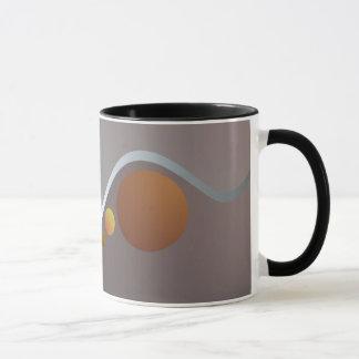 抽象的なカーブおよび球の信号器のマグ マグカップ