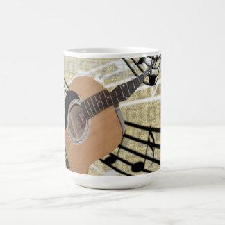 抽象的なギターのマグ コーヒーマグカップ