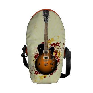 抽象的なギター メッセンジャーバッグ