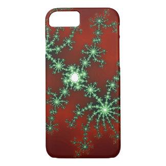 抽象的なクリスマスのカラー・バースト iPhone 8/7ケース